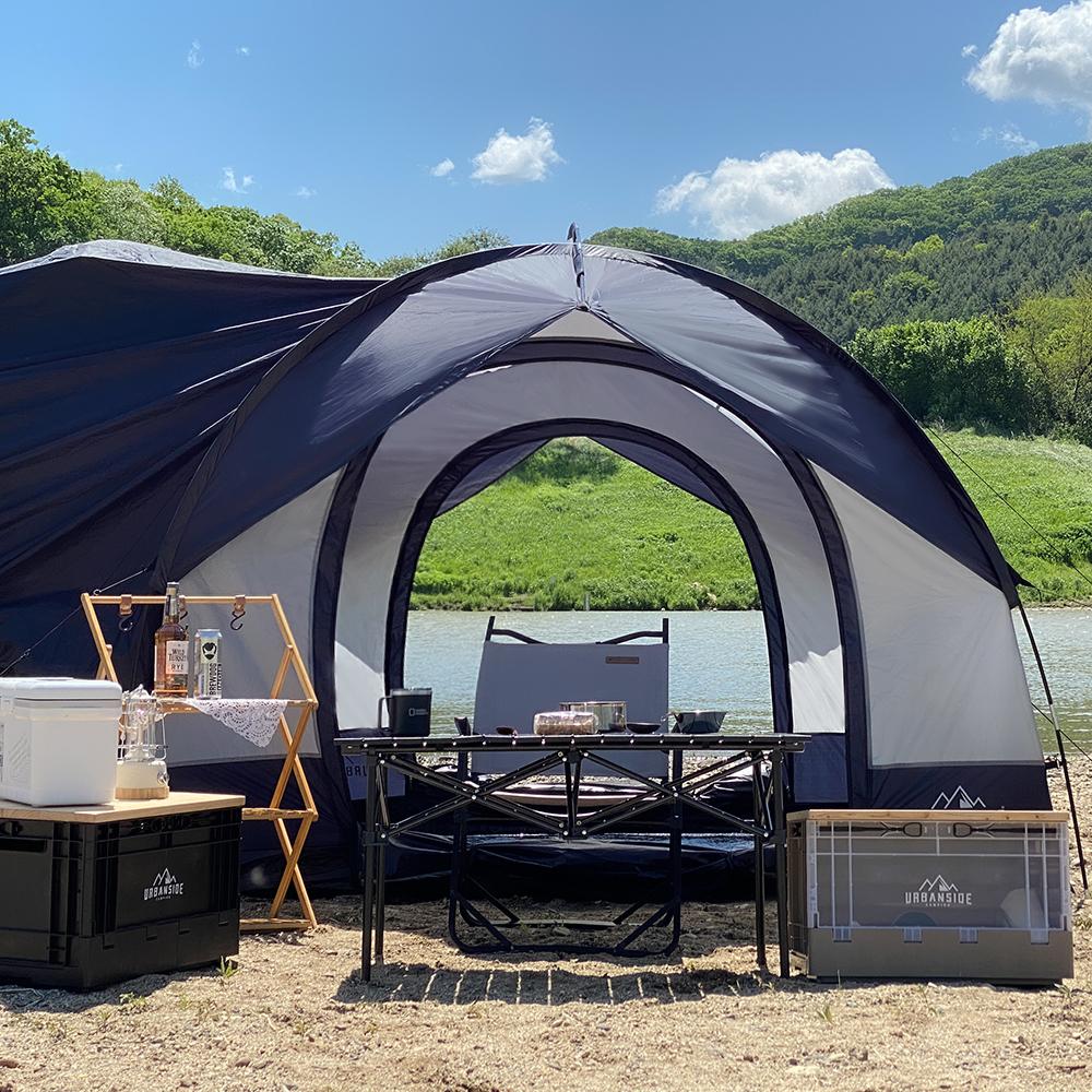 어반사이드 Protect 3 플러스 캠핑 도킹쉘터 차박 텐트, 그레이 + 네이비