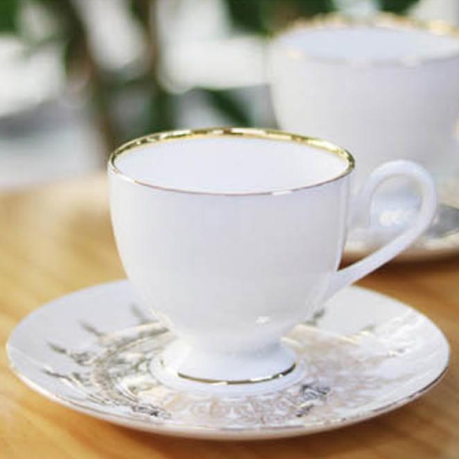 다이아나 커피잔 2인조 세트 금장, 골드, 1세트