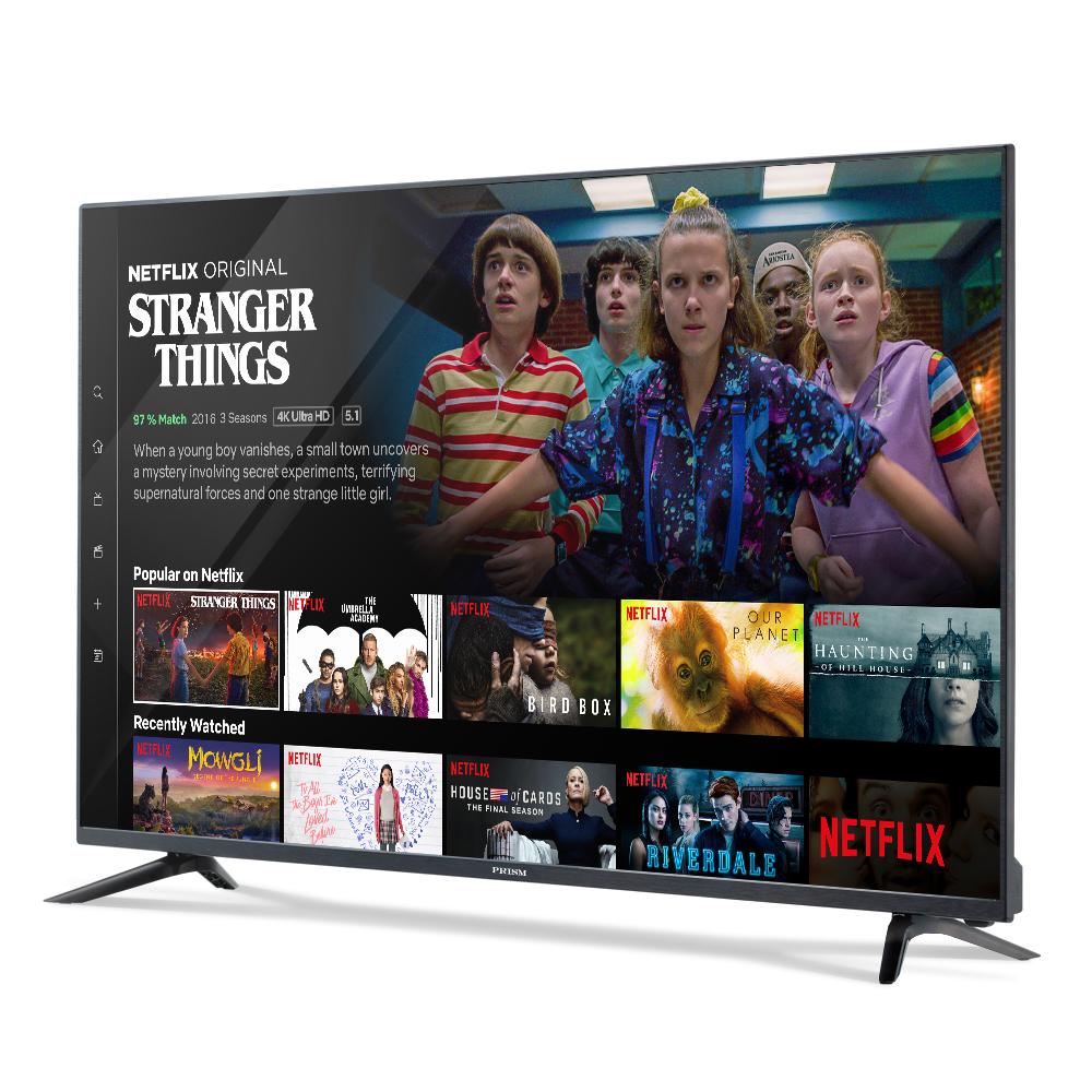 프리즘 4K UHD HDR 139.7cm 스마트 TV PTI55UL, 스탠드형, 자가설치