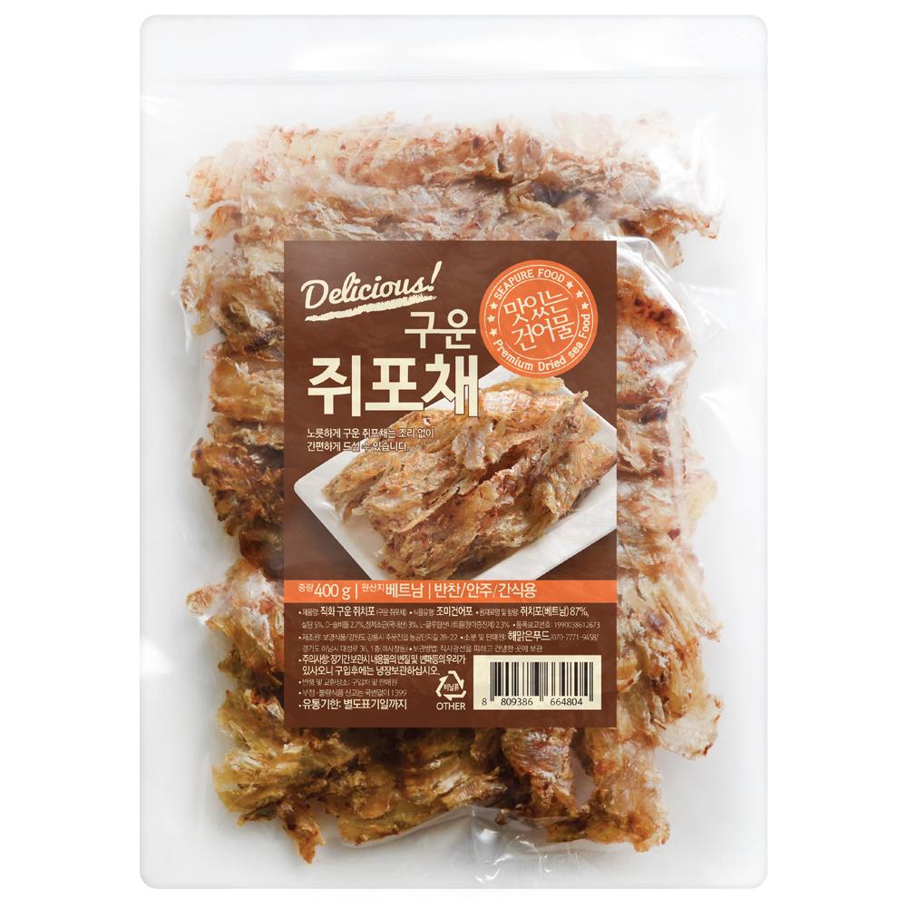 해맑은푸드 구운쥐포채, 400g, 1개
