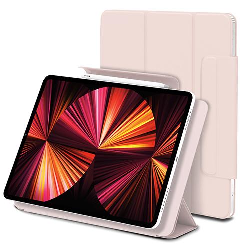 신지모루 마그네틱 폴리오 애플펜슬 커버 태블릿PC 케이스, 핑크 샌드-21-5490532528