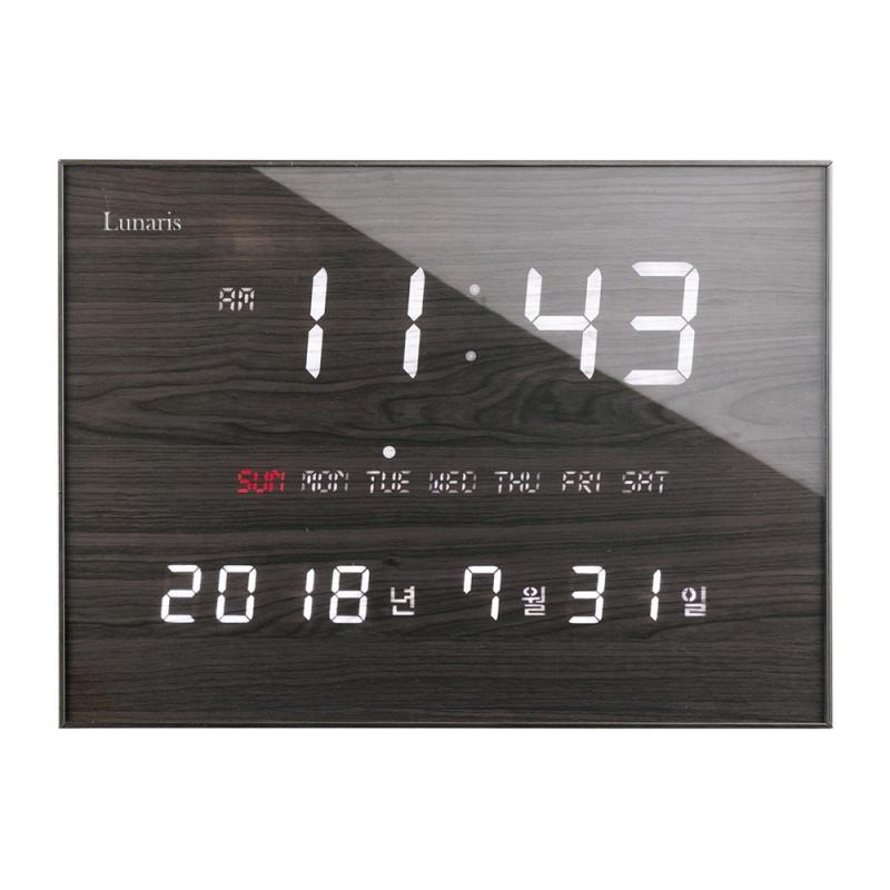 루나리스 FM수신 LED 전자벽시계, 체리블랙