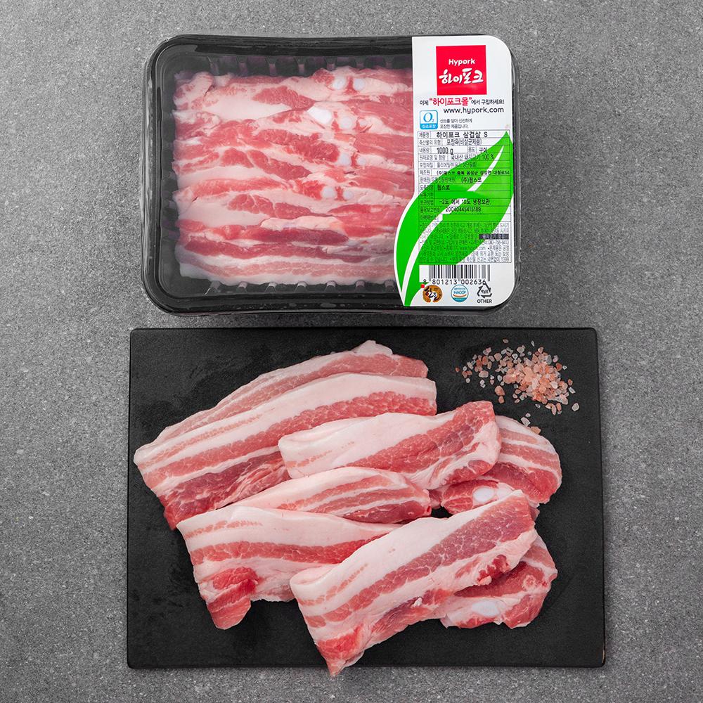 [하이포크] 하이포크 한돈 삼겹살 (냉장), 1kg, 1개 - 랭킹1위 (29900원)
