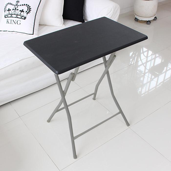 오에이데스크 접이식 사각 테이블 대 블랙