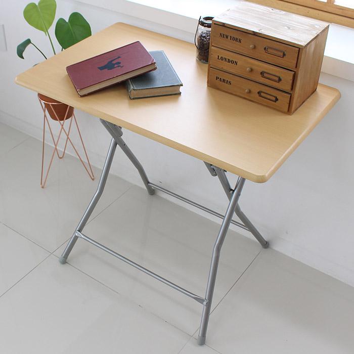 오에이데스크 접이식 사각 테이블 대 우드