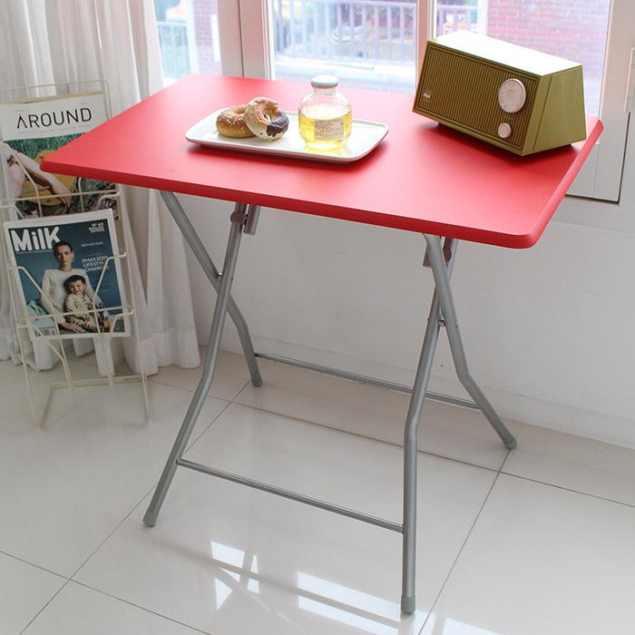 오에이데스크 사각 테이블 소, 레드
