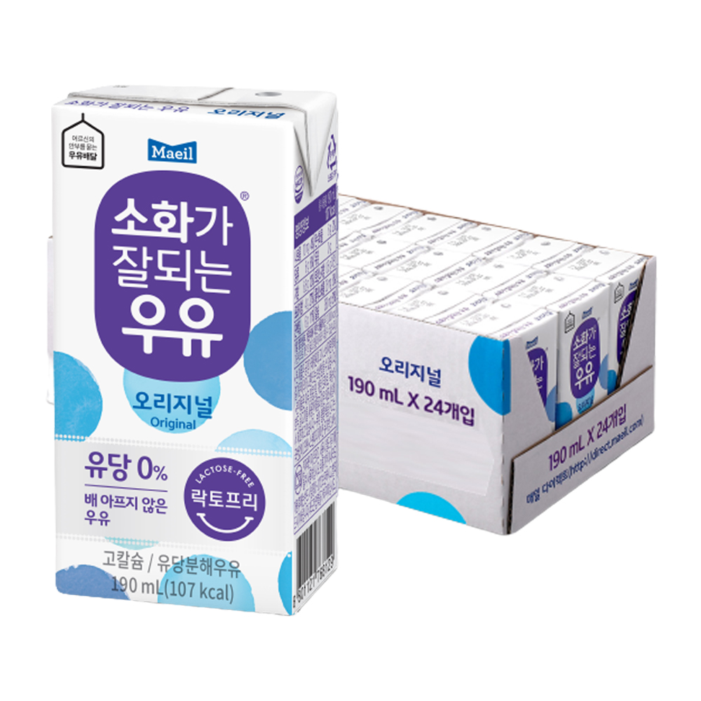 매일 소화가 잘되는 우유, 190ml, 24개