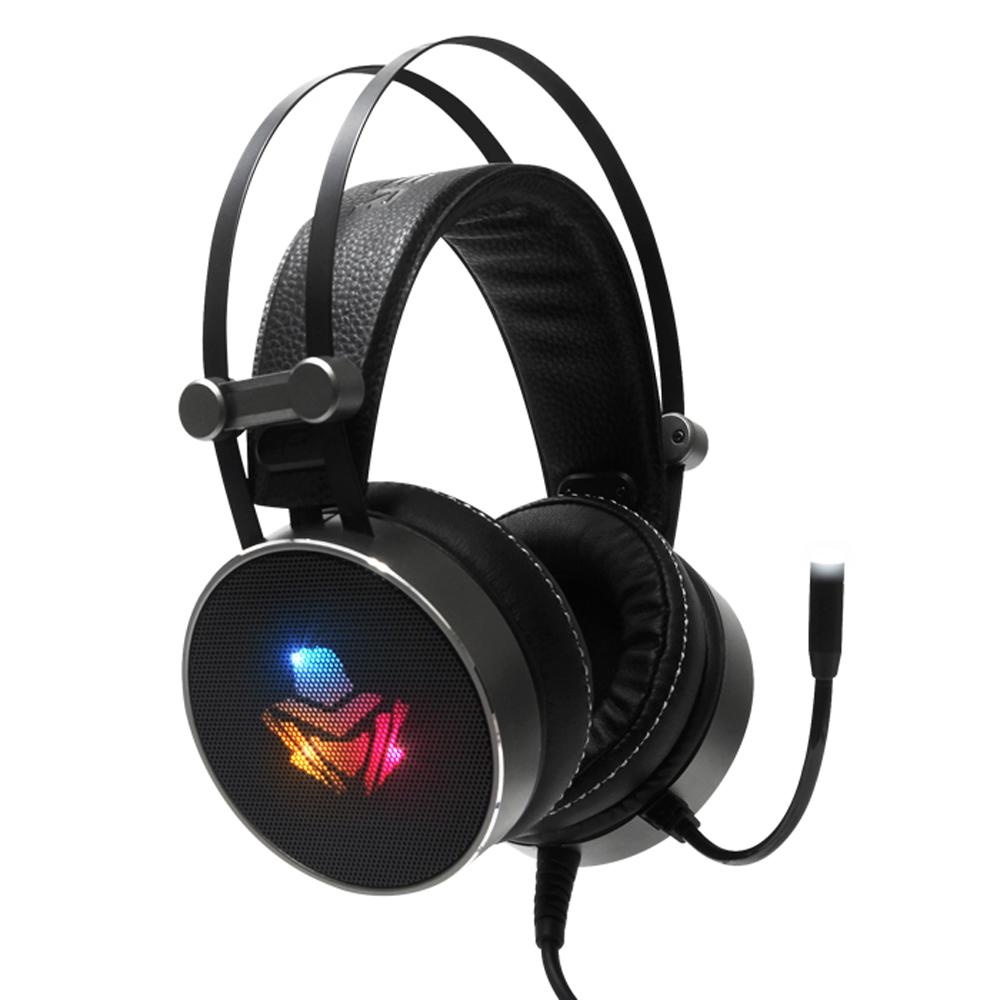 앱코 HACKER 버추얼 7.1 진동 RGB 음성변조 게이밍 헤드셋, B900U PLUS, 혼합 색상