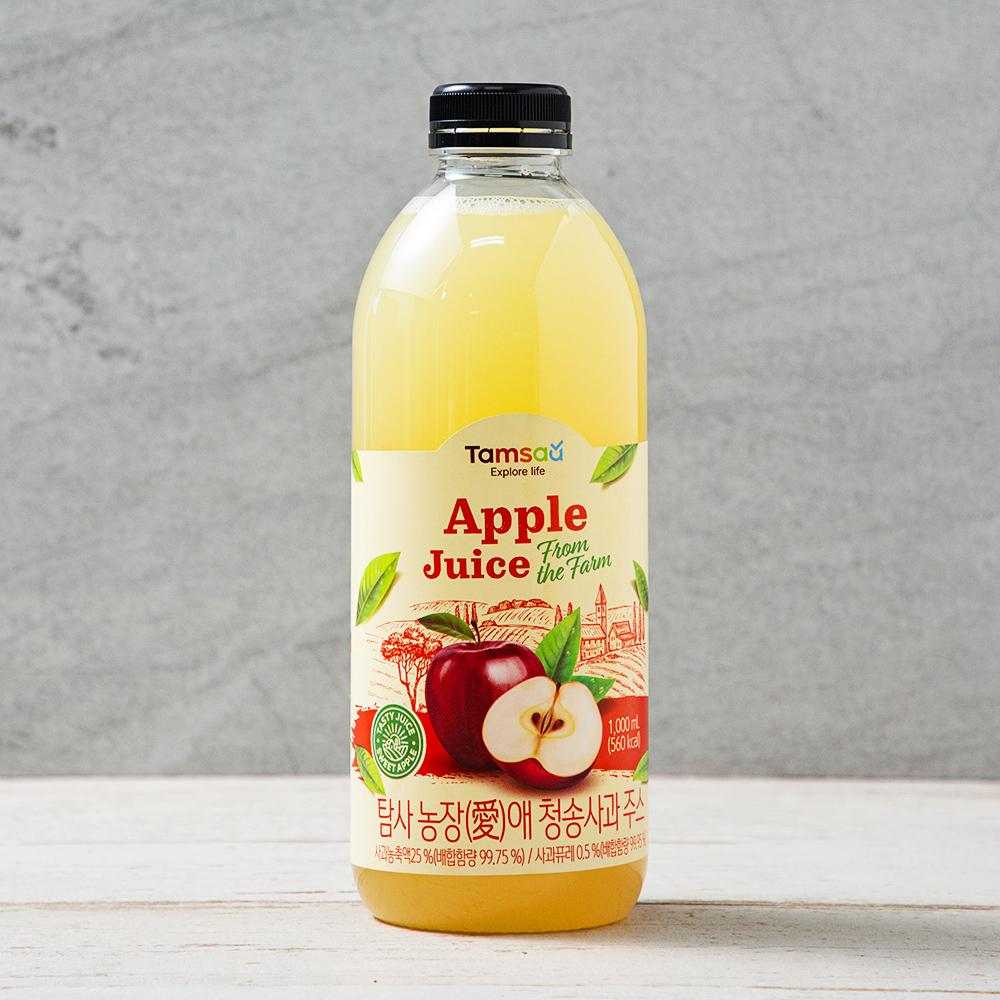 탐사 농장(愛)애 청송 사과 주스, 1000ml, 1개