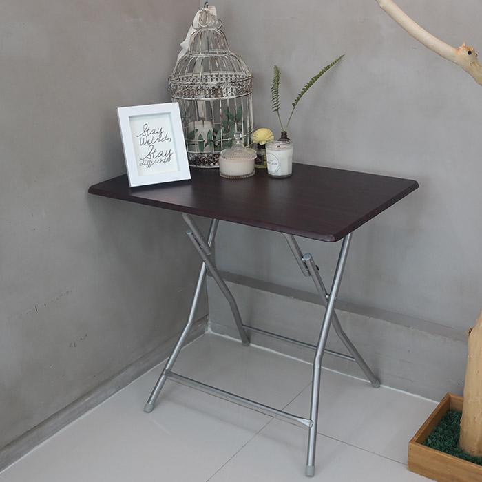 오에이데스크 접이식 사각 테이블 대 월넛