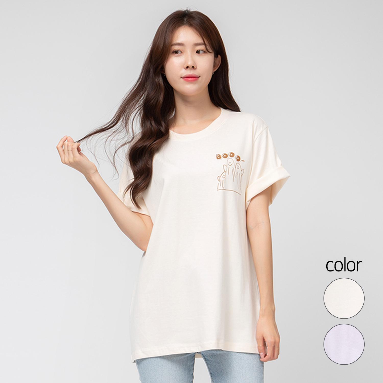 캐럿 여성용 릴렉스 핏 그래픽 티셔츠 부