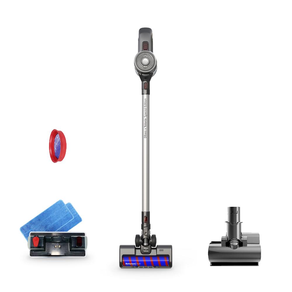 디베아 무선청소기 + 물걸레키트 + 침구브러시 + 추가필터 NEW X10, 실버