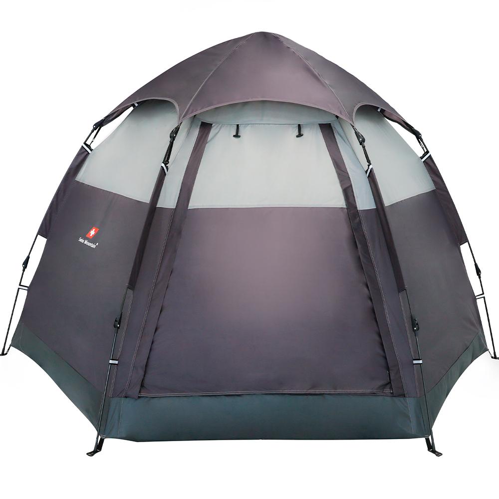 스위스마운틴 헥사돔 원터치 텐트, GREY, 5인용