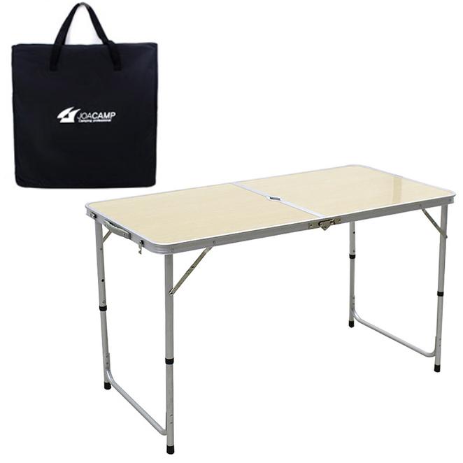 조아캠프 캠핑테이블 120 + 전용가방, 우드