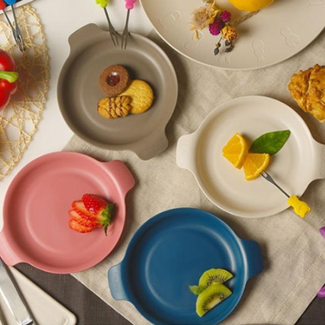나인웨어 프렌즈 아이엠접시 4P, 1세트, 블루 + 핑크 + 그레이 + 아이보리