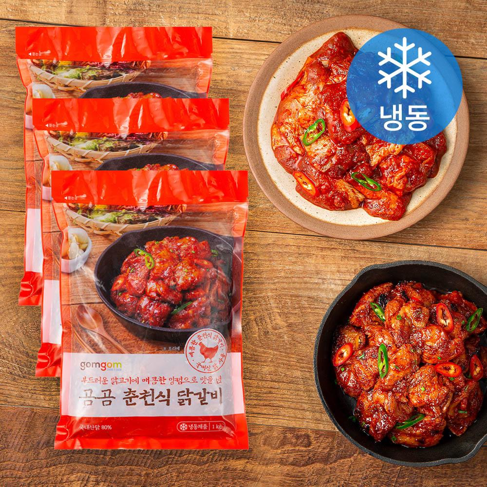 곰곰 춘천식 닭갈비 (냉동), 1kg, 3개