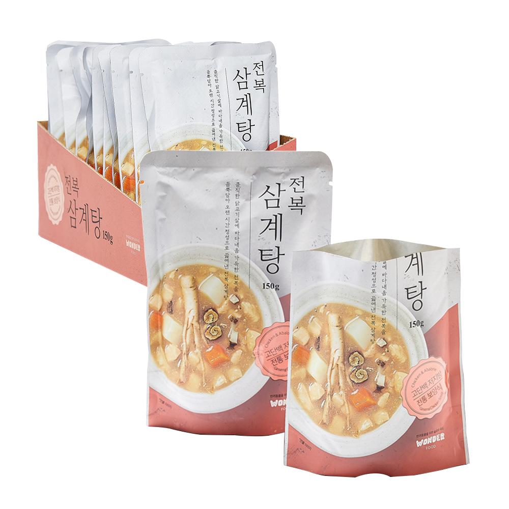 [반려동물용품] 원더푸드 반려동물용 탕 150g, 전복 + 닭, 12개 - 랭킹1위 (36700원)