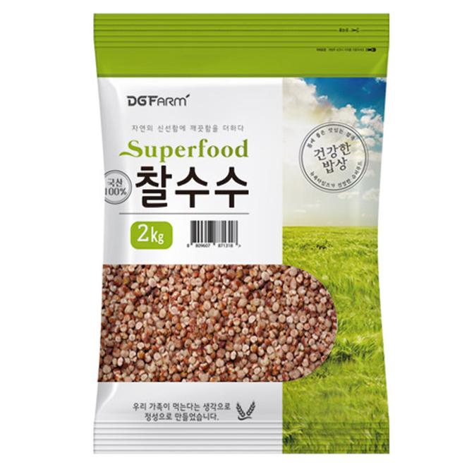 건강한밥상 국산 찰수수, 2kg, 1개