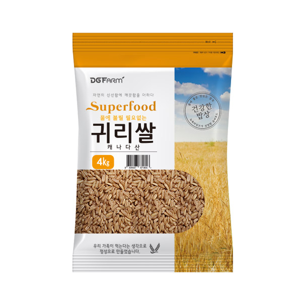 대구농산 불릴필요없는 귀리쌀, 4kg, 1개