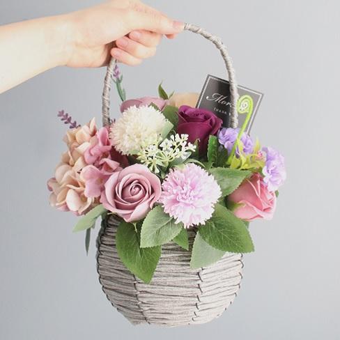 모리앤 귀여운 통통 꽃바구니, 퍼플통통