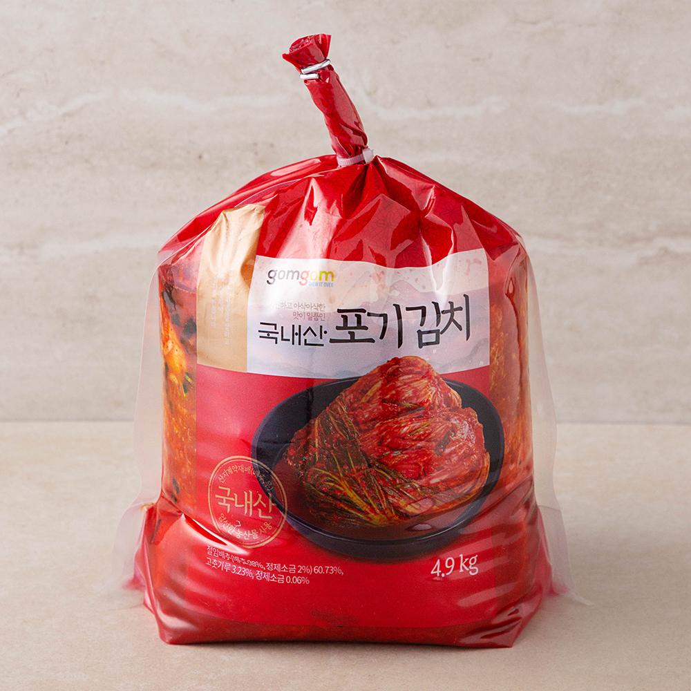 곰곰 국내산 포기 김치 (냉장), 4.9kg, 1개