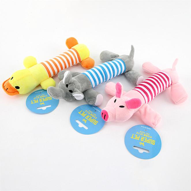 도그아이 강아지장난감 쭉쭉이 돼지 + 코끼리 + 오리, 랜덤 발송, 1세트