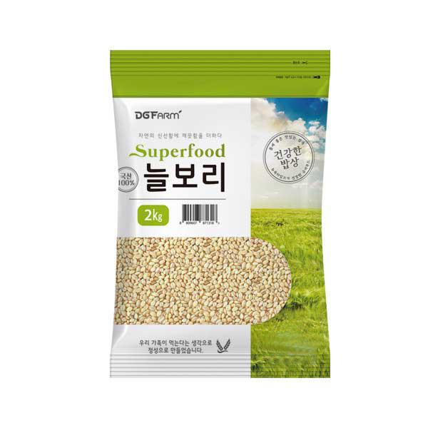 대구농산 2020년 햇곡 건강한밥상 국산 늘보리쌀, 2kg, 1개