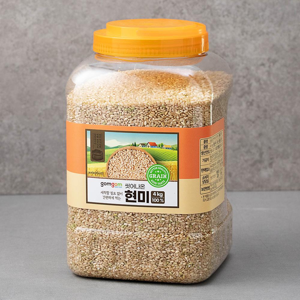 곰곰 씻어나온 현미, 4kg, 1개