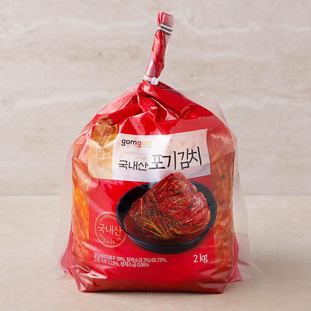 곰곰 국내산 포기 김치 (냉장), 2kg, 1개