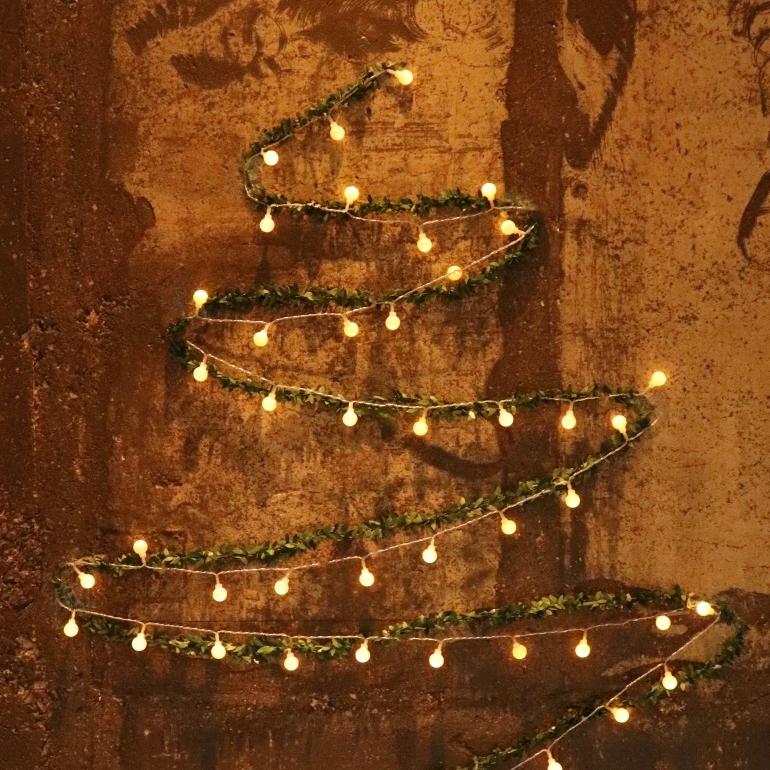 블뤼엔 DIY 크리스마스 벽트리 전구 50구, 그린