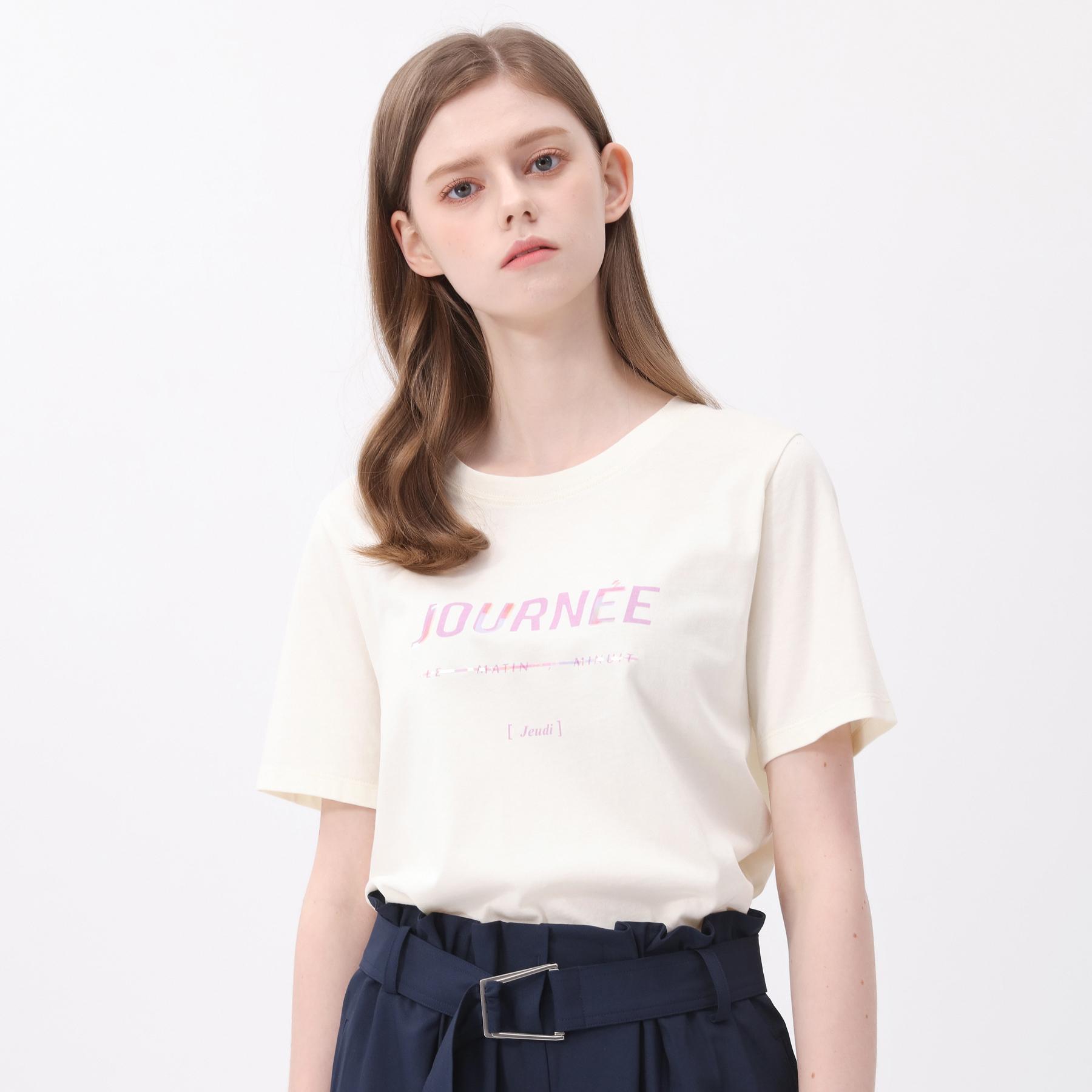 마인드브릿지 여성용 레터링 티셔츠 MVTS3235
