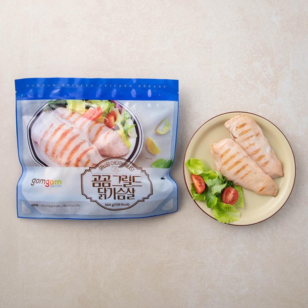 [닭가슴살 다이어트] 곰곰 그릴드 닭가슴살, 550g, 1개 - 랭킹56위 (9400원)