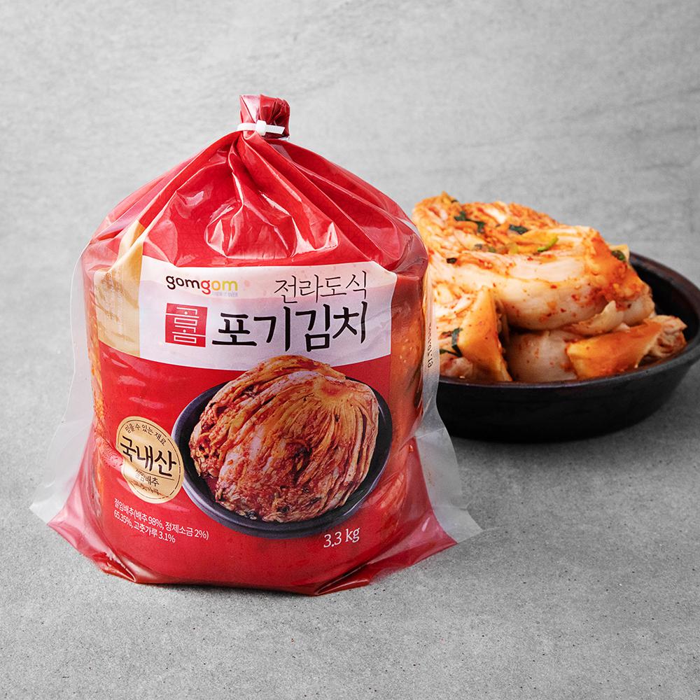 곰곰 전라도식 포기김치 (냉장), 3.3kg, 1개