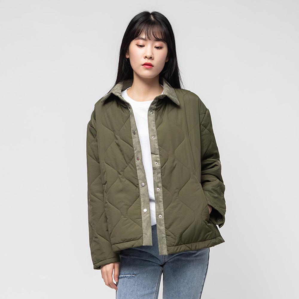 캐럿 여성 봄 가을 간절기 누빔 자켓