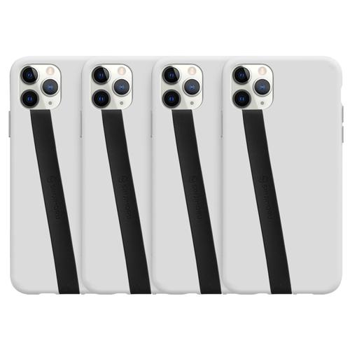 신지모루 실리콘 핸드폰 핑거 스트랩  블랙  4개파스텔톤 접착형 휴대폰 핑거 스트랩  그린  1개스미스브라더스 휴대폰 스트랩