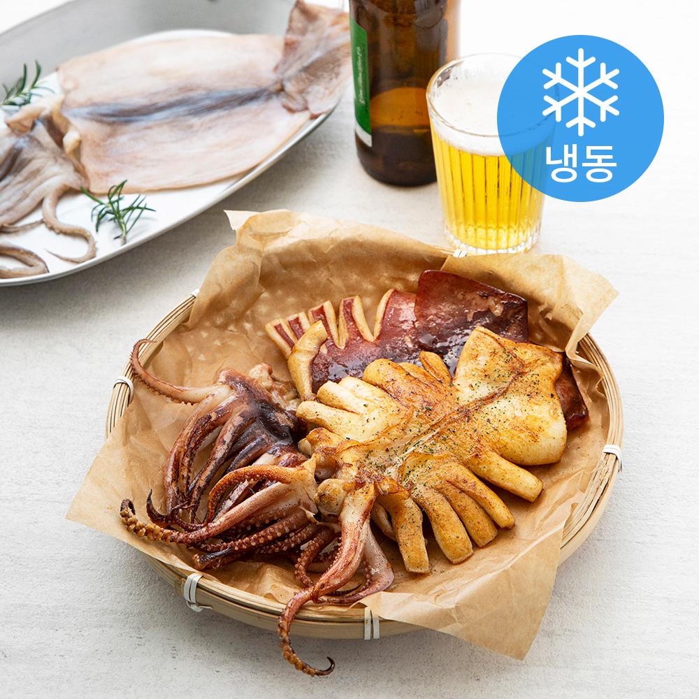 해선생 구룡포건조 원양산 반건오징어 5미 (냉동), 550g, 1개
