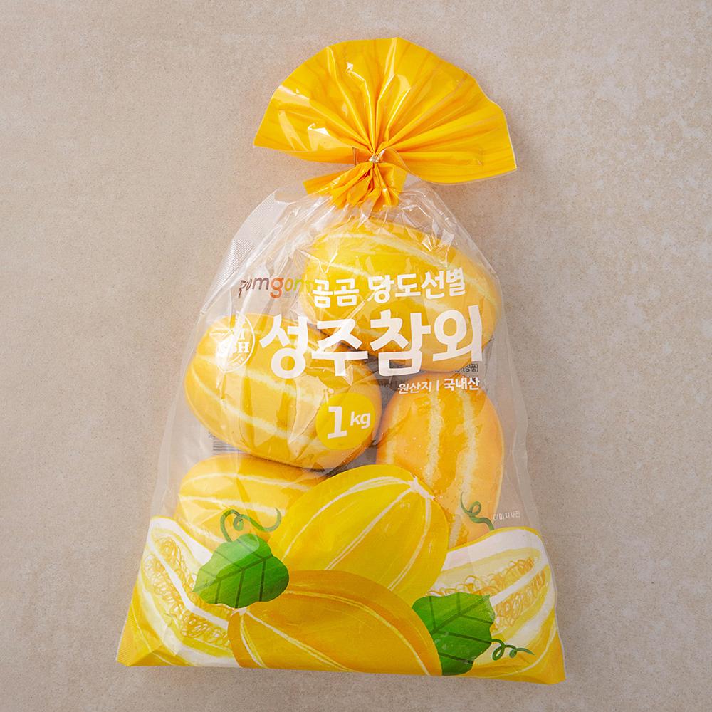 곰곰 당도선별 성주참외, 1kg, 1봉