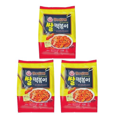 오뚜기 뚜기네 분식집 쌀떡볶이, 426g, 3개