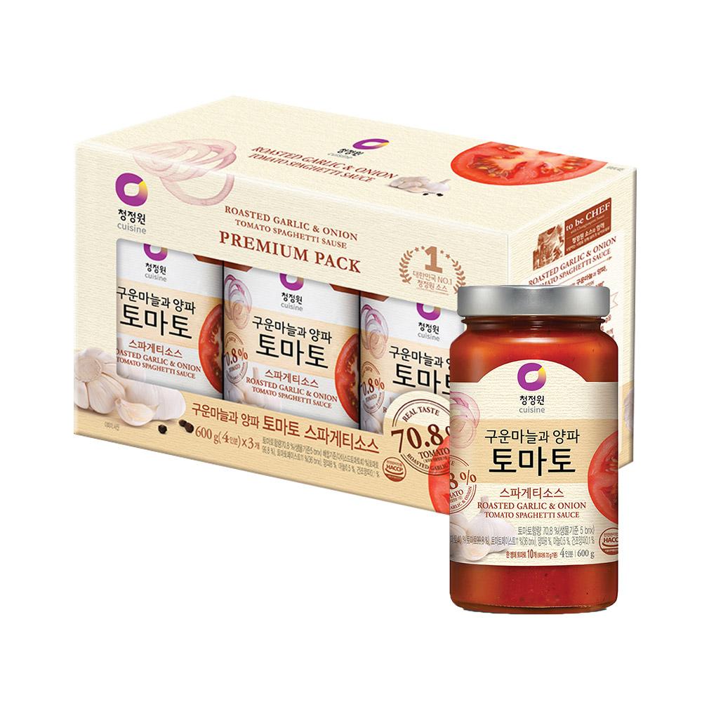 청정원 토마토 스파게티소스, 600g, 3개