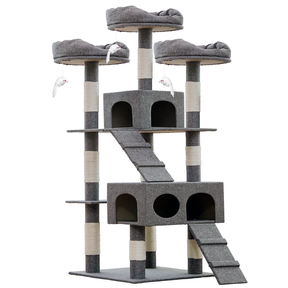 헬로망치 프리미엄 대형 고양이 직조 캣타워, DS8898 그레이, 1개