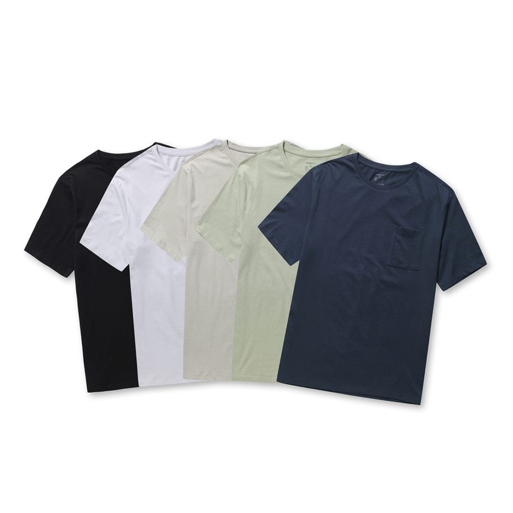 프로젝트엠 코튼 5종 포켓 반팔 티셔츠 EPB5TS1902
