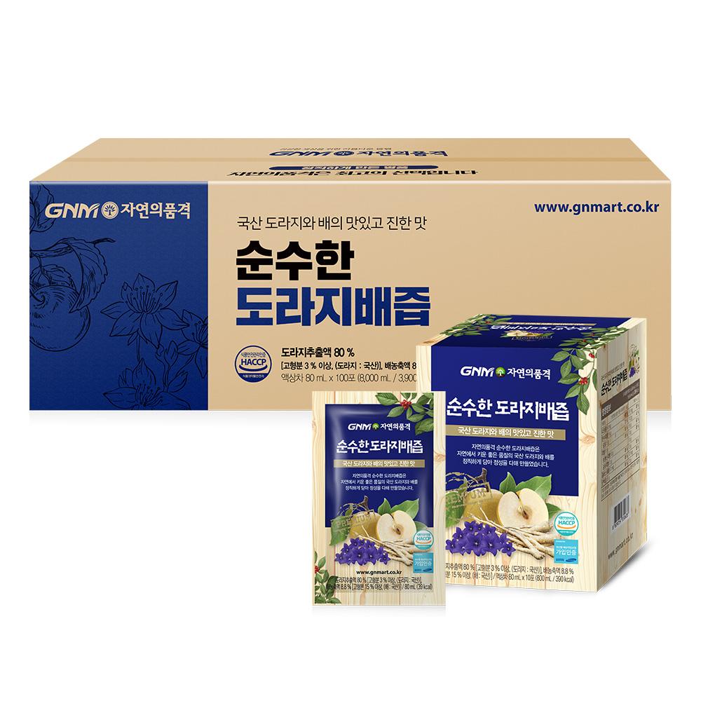 GNM자연의품격 순수한 도라지배즙, 80ml, 100포
