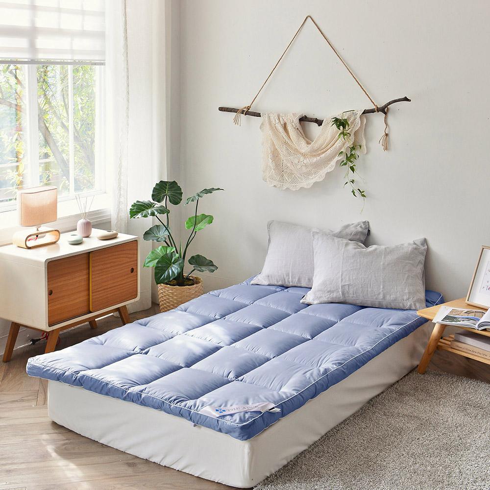 스페이스샾 슬립케어 순면 침대토퍼, 블루