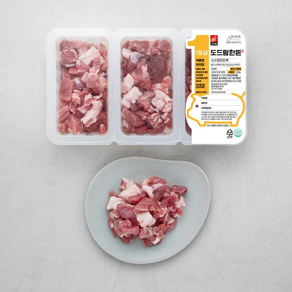 도드람한돈 돼지 앞다리 스마트팩 1등급 찌개용 (냉장), 200g, 3팩