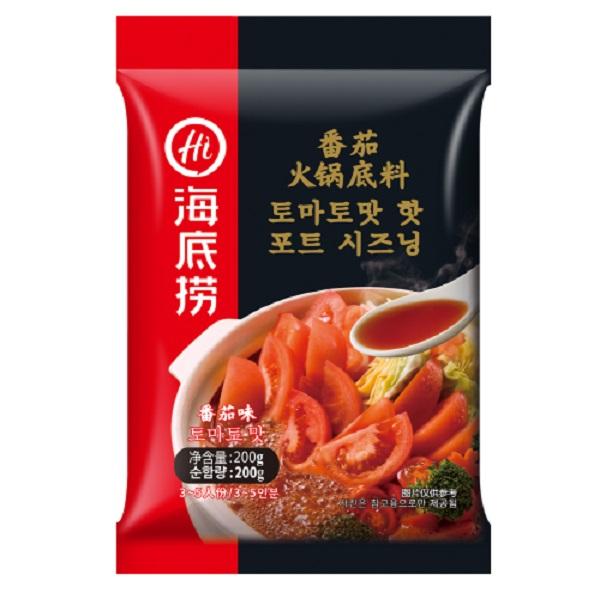 하이디라오 토마토맛 핫 포트 시즈닝 훠궈, 200g, 1개