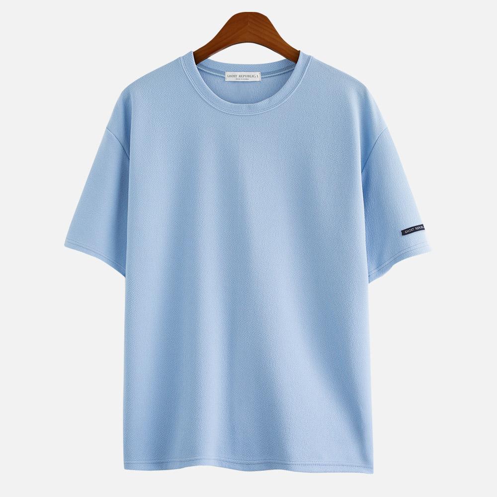 [무지 오버핏] 고스트리퍼블릭 안티 링클 리버플 반팔 티셔츠 GT-3147 - 랭킹42위 (13900원)
