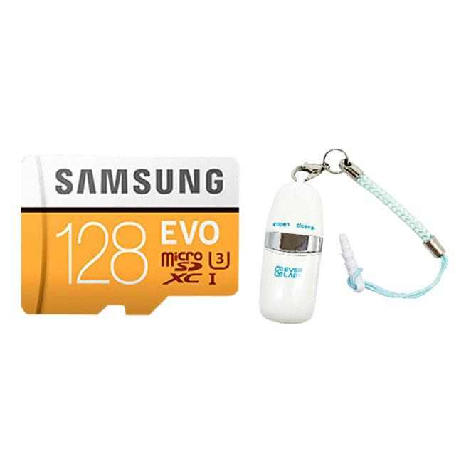 삼성전자 마이크로SD EVO MP128GB + SD어댑터 + USB리더기, 128GB
