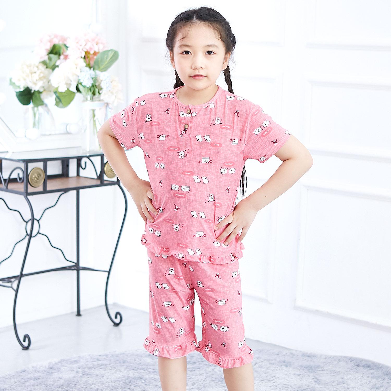 키즈라인 여아용 굿나잇 핑크 냉감 잠옷 상하세트