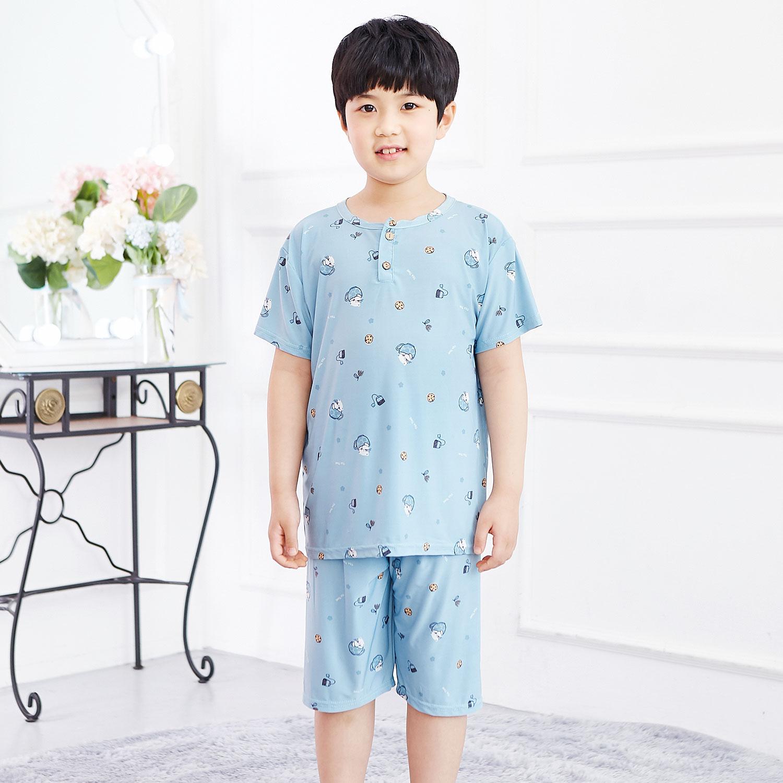 키즈라인 남아용 시에스타 블루 냉감 잠옷 상하세트