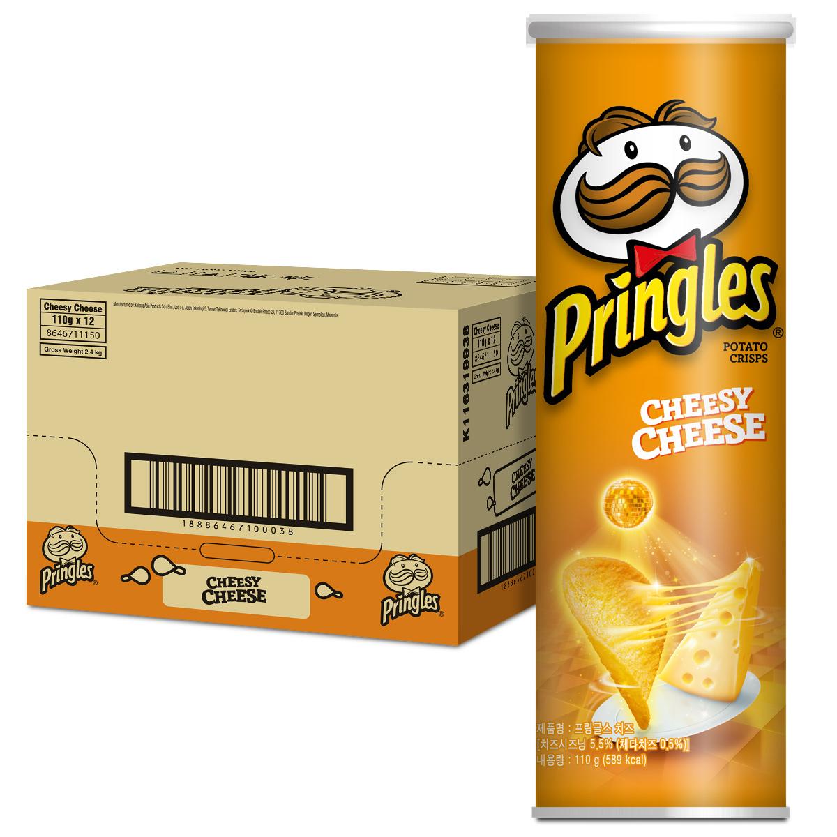 켈로그 프링글스 치즈맛, 110g, 12개입